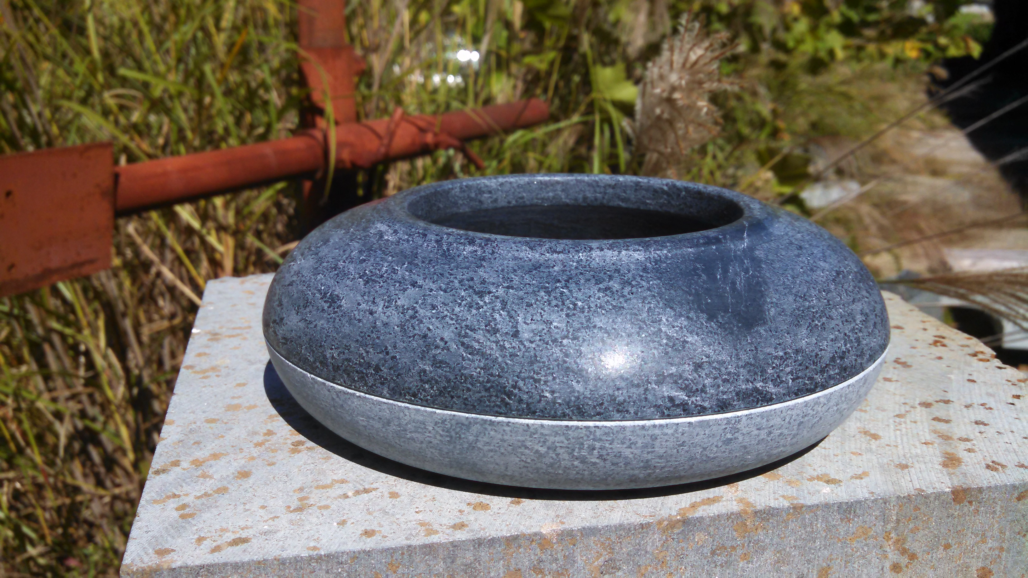 two-tone soapstone vessel