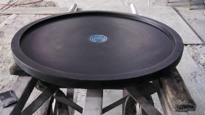 Round Soapstone Shower Pan