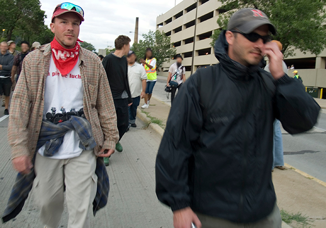 Just two of the dozens of plainclothes and agent provocateurs who were in the streets