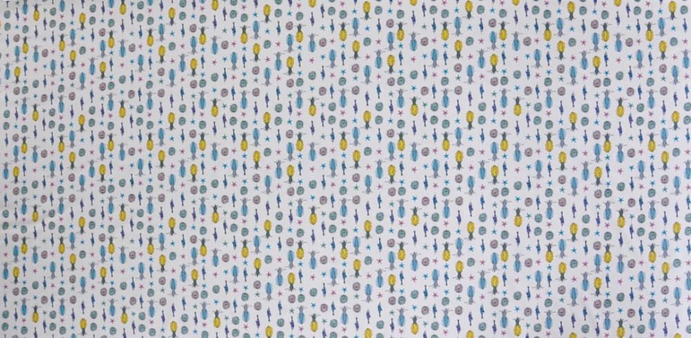 Mannine Japanese designer fabric Indy Bindy fabrics sepia