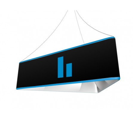 Triangle Tension Fabric Hanging Sign Indydisplays