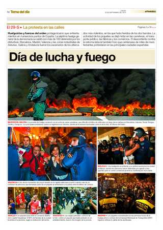 (EL PERIODICO) Day of struggle and fire