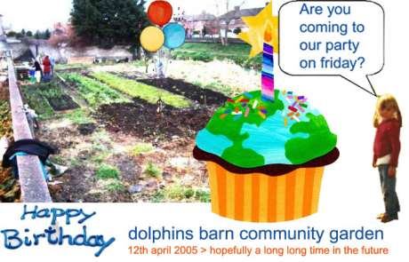 dolphins barn community garden birthday party on good friday