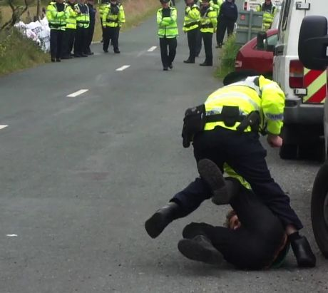 Cops assaulting people on the road
