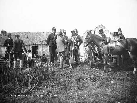 Eviction in Ireland (Vandeleur Estate, County Clare. Circa 1880s or 1890s). National Library of Ireland