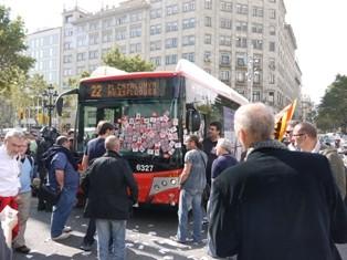 Strike Breaking Bus - halted