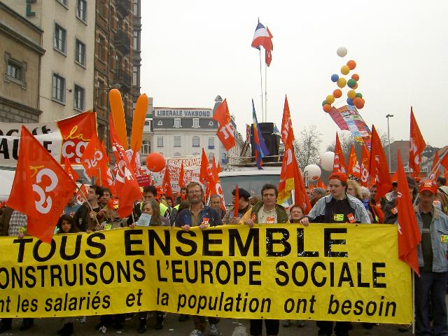 CGT demonstrators in Brussels