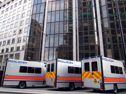 More RoboVans. I wonder how much overtime they get for doing this?