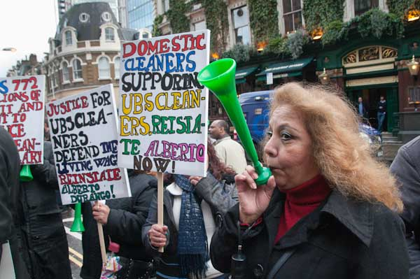 The green 'trumpets' from the RMT were loud