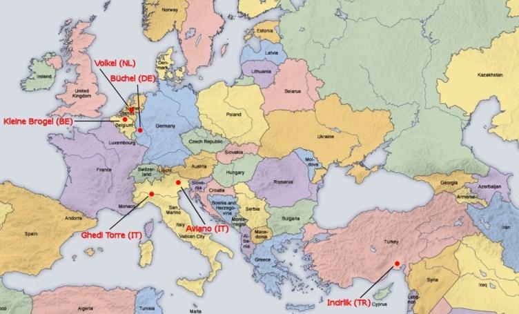 mappa nucleare in europa