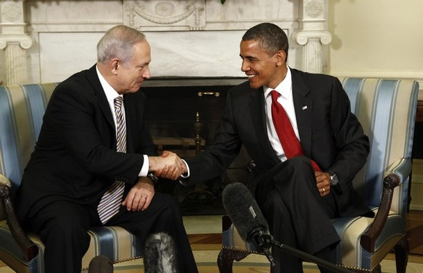 Obama's  meeting Netanyahu in the White House, Washington D.C. 6 July 2010