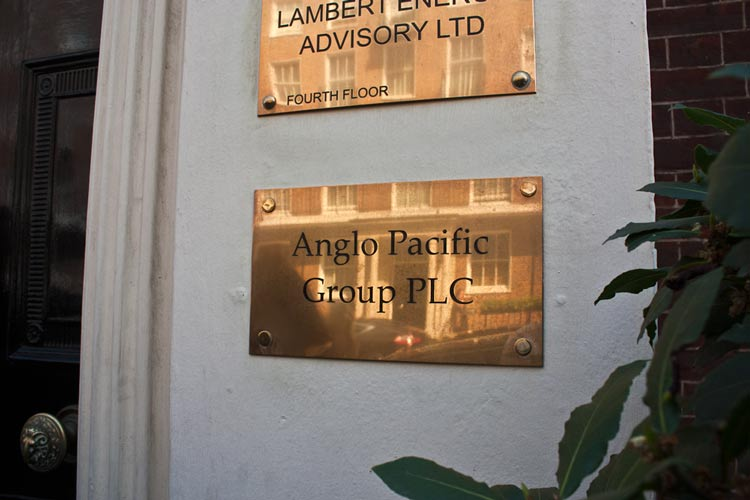 anglo pacific group plaque