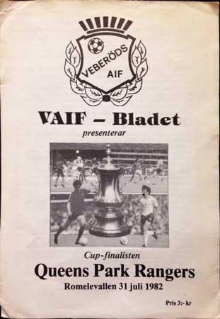 Veberods Aif V Qpr 31st July 1982 Independent Rs
