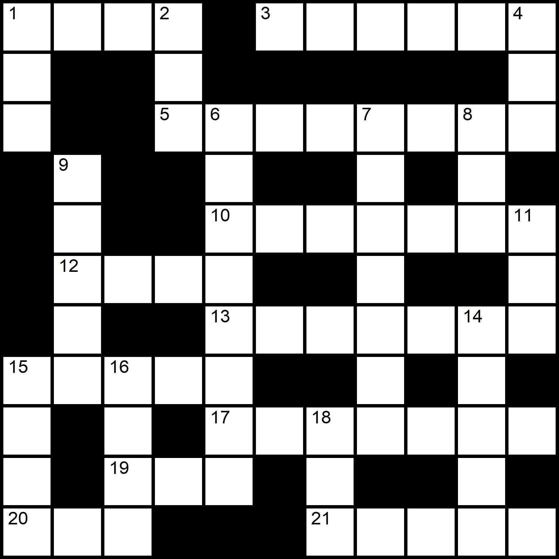 Easy Printable Crossword Puzzles Easy Crossword Puzzle