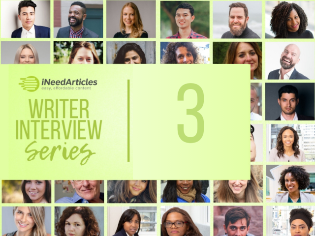 Writer Interview Series 3 Ineedarticles