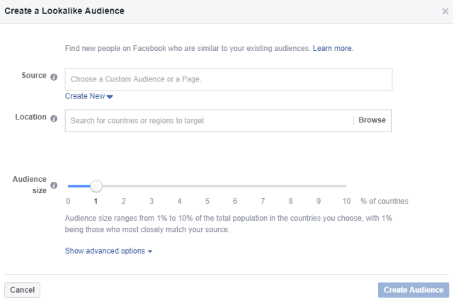 How To Create A Lookalike Audience On Facebook | Step 2