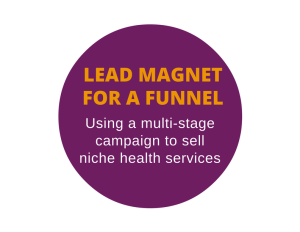 Special report used as a lead magnet for a healthcare marketing company