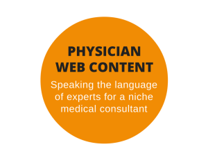 Web content for a physician consultant