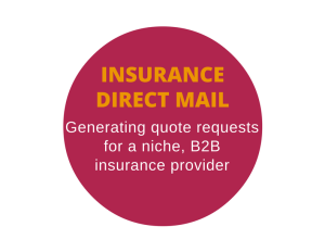 B2B direct mail for an insurance company