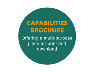 Capabilities brochure for a CRM and digital print firm