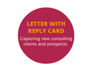 Direct mail letter with reply card for a management consultant