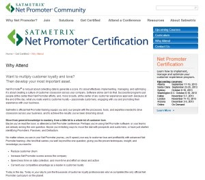Web content for a saas certification program