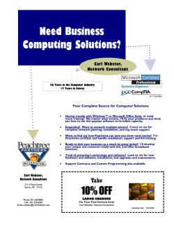 Local marketing flyer for a network consultant