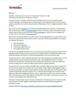 Blog post series for a SaaS company