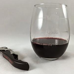 LOL-OMG-WTF 15 oz Stemless Funny Wine Glass13