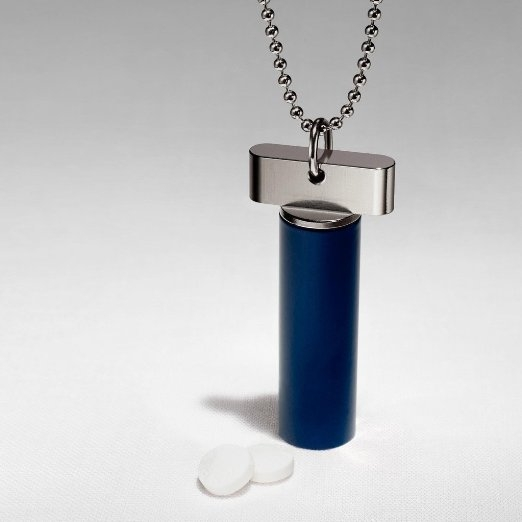 Cielo Pill Holders – Steel Keychain Pill Fob / Necklace