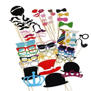 Tinksky Photo Booth Props 60 piece DIY Kit for Party 112