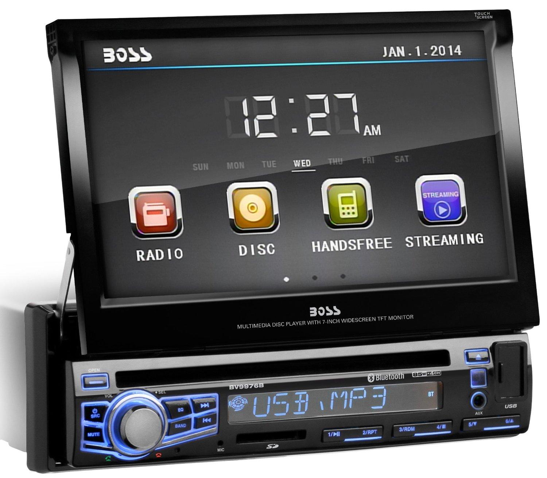 BOSS AUDIO BV9976B Single-DIN 7 inch Motorized Touchscreen