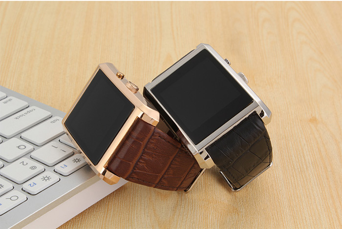 F8 High-end Leather Band Smartwatch Phone