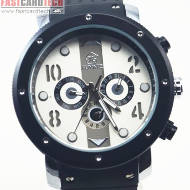 Luxury Stainless Steel Rubber Band Watch J116