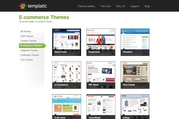 Templatic eCommerce Gallery