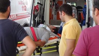 Kaynak yaparken düşerek yaralandı