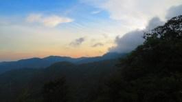 Het uitzicht vanuit de hut.