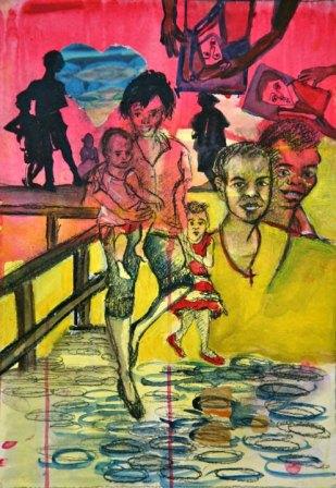 Mixed media on Canvas $250