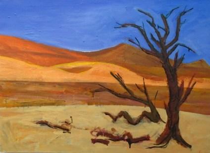 Deadvlei Namibia mixed media on canvas