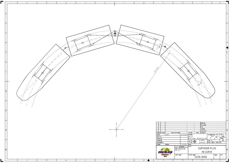 Superior Plus 100 Low Floor Trams In 12m Radius Curve