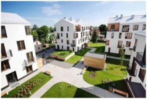 Budynki mieszkalne wielorodzinne z lokalami użytkowymi, ul. Krzywdy w Krakowie