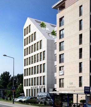 Budynek usługowo-biurowy przy ul. Kapelanka w Krakowie