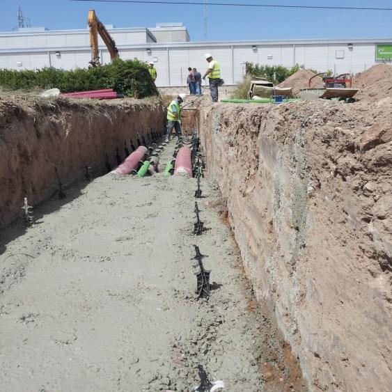 Hormigón para construcción de canalizaciones