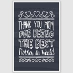 Thank You MOM - Best Mother Poster (12 x 18 inch)