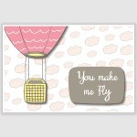 You Make Me Fly Poster (12 x 18 inch)
