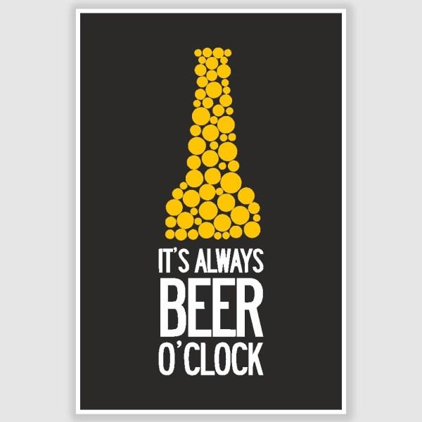 Beer OClock Poster (12 x 18 inch)