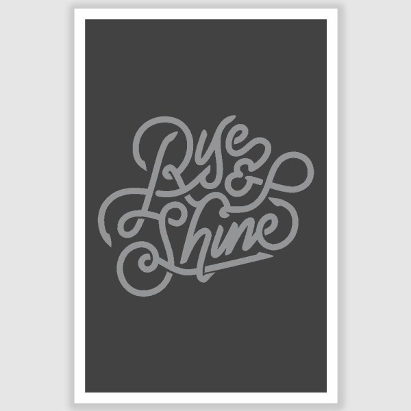 Rise n Shine Inspirational Poster (12 x 18 inch)