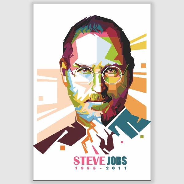 Steve Jobs Potrait Poster (12 x 18 inch)