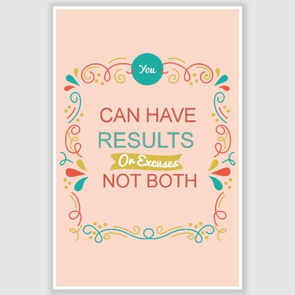 You Can Have Results Inspirational Poster (12 x 18 inch)