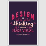 Design Is Thinking Inspirational Poster (12 x 18 inch)